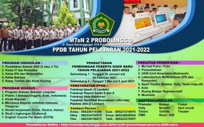 Brosur PPDB Online MTs Negeri 2 Pribolinggo